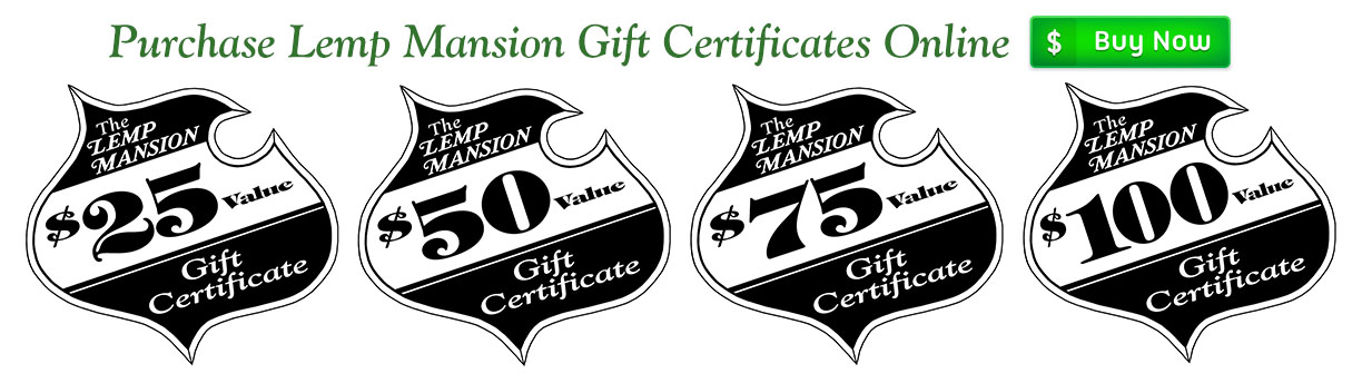 Order Lemp Mansion gift certificates